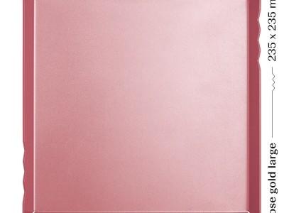 Mosaic/Lielā rozā zelta paplāte