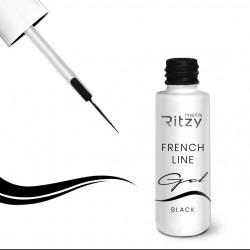 Ritzy French line gēls Black 7 ml