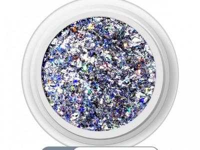 Ritzy A-12/Crushed silver mix glitter