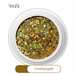 Ritzy A-01/Crushed gold mix glitter