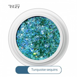 Ritzy A-09/Turquoise sequins mix glitter
