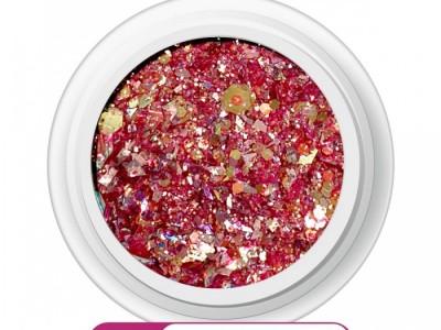 Ritzy M-06/Pink splash mix glitter