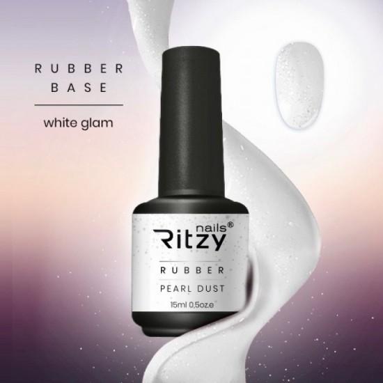 Ritzy Rubber base gel/White Glam/15ml