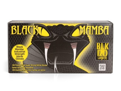 Black mamba nitrila cimdi/L 100 gab