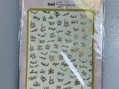 Ritzy TM/Nail art Stickers/F205 gold