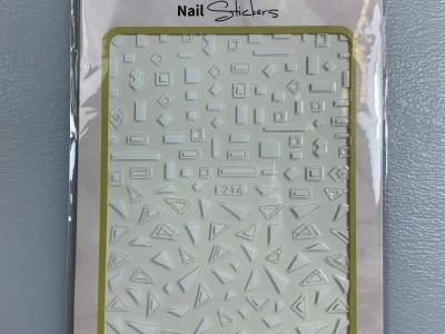 Ritzy TM/Nail art Stickers/F214 white