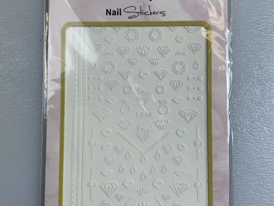 Ritzy TM/Nail art Stickers/F218 white