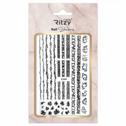 Ritzy TM/Nail art Stickers/F549 black