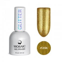 Mosaic #24K/gēla laka 15 ml