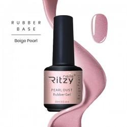 Ritzy Rubber base gel/Beige Pearl/15ml