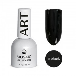 Mosaic Black/gēla laka 15 ml
