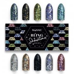 Mosaic glitter gēls/Showtime komplekts/10*5 ml