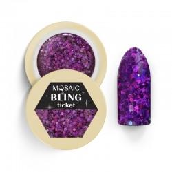 Mosaic glitter gēls/Ticket  5 ml