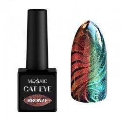Mosaic gēla laka Cat eye/Bronze 10 ml