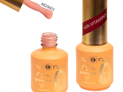 SPHYNX Lac/Fiber gel with vitamins/Apricot Blush 820603/15ml