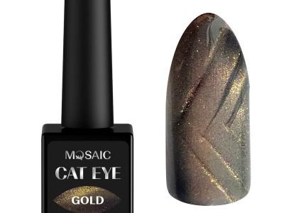 Mosaic gēla laka Cat eye/Gold 10 ml