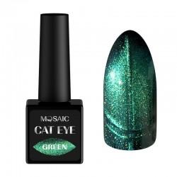 Mosaic gēla laka Cat eye/Green 10 ml