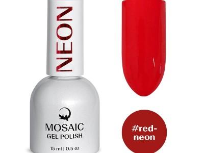 Mosaic gēla laka/Red neon15 ml