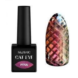 Mosaic gēla laka Cat eye/Pink 10 ml