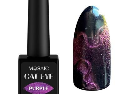 Mosaic gēla laka Cat eye/Purple 10 ml