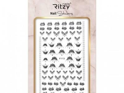 Ritzy TM/Nail art Stickers/F113 black
