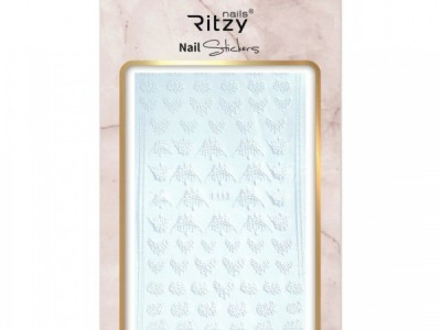Ritzy TM/Nail art Stickers/F113 white