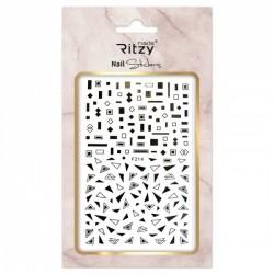 Ritzy TM/Nail art Stickers/F214 black