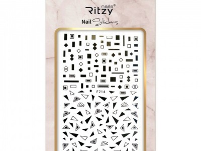 Ritzy TM/Nail art Stickers/F214 black