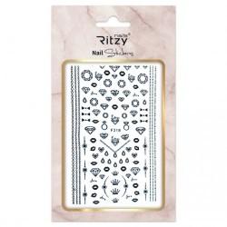 Ritzy TM/Nail art Stickers/F218 black