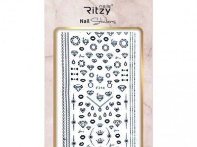 Ritzy TM/Nail art Stickers/F218 black