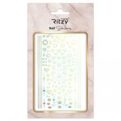 Ritzy TM/Nail art Stickers/F218 gold