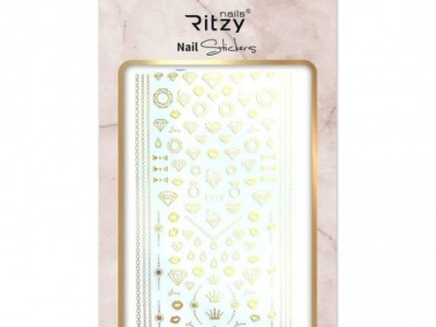 Ritzy TM/Nail art Stickers/F218 gold