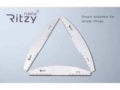 Ritzy TM/Premium quality Japanese paper.Nails file 180/180/10pcs