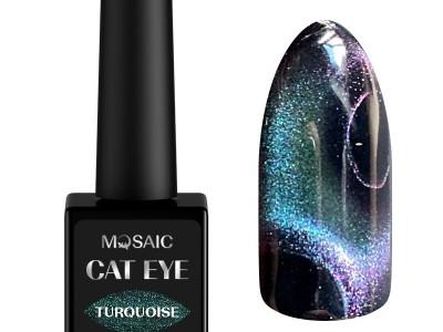 Mosaic gēla laka Cat eye/Turquoise 10 ml