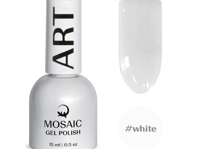 Mosaic gēla laka/White 15 ml