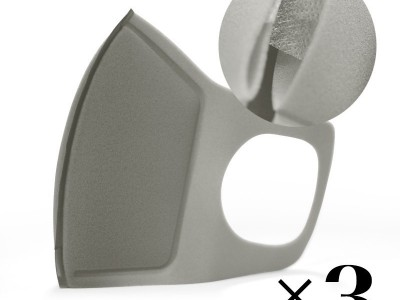 Reusable mask with filter. Grey x3