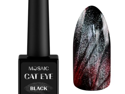 Mosaic gēla laka Cat eye/Black 10 ml