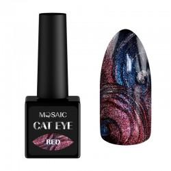 Mosaic gēla laka Cat eye/Red 10 ml