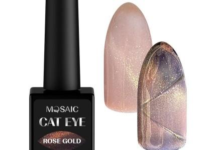 Mosaic gēla laka Cat eye/Rose gold 10 ml