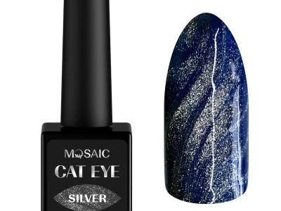 Mosaic gēla laka Cat eye/Silver 10 ml