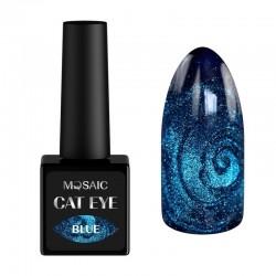 Mosaic gēla laka Cat eye/Blue 10 ml