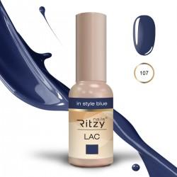 Ritzy Lac 107 In Style Blue/gēla laka 9ml