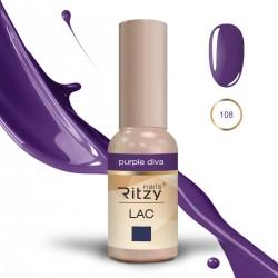 Ritzy Lac 108 Purple Diva/gēla laka 9ml