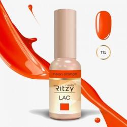 Ritzy Lac 115 Neon Orange/gēla laka 9ml