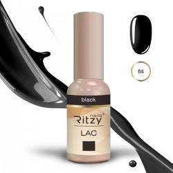 Ritzy Lac 64 Black/gēla laka 9ml