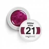 Mosaic gel paint 21.Glitter wine/5ml