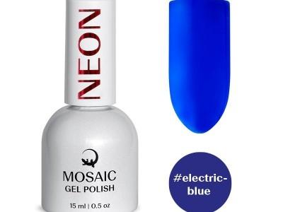 Mosaic gēla laka/Electric blue 15 ml