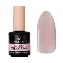 Mosaic SculptX būvējošais gēls Milky pink 15 ml
