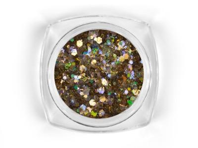 Mosaic Golden holo mix glitter