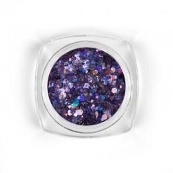 Mosaic Violet holo mix glitter